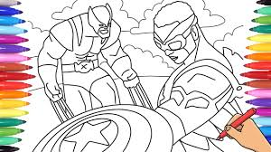 Free printable x men coloring pages online for kids play fun online games for kids at heroesarcade.com. Avengers X Men Falcon Captain America And Wolverine Coloring Pages Youtube