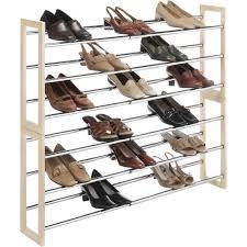 whitmor stackable expandable shoe rack