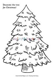 Printable Christmas Tree Decorate The Tree For Christmas Tree Printable
