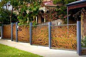 corrugated metal fence. Rebar Fence Panels Decoration : Archaicfair Corrugated Metal And Whole