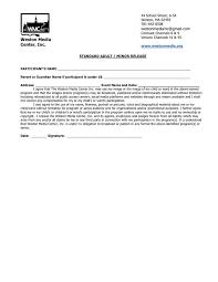 Release Form Weston Media Center Inc