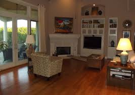 Furniture Placement In Living Room With Corner Fireplace Design ...