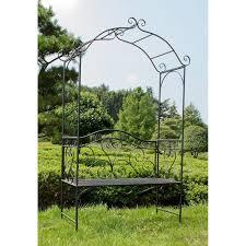 2 seater metal rose arch bench