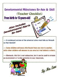 Literacy Milestones Chart Developmental Milestones By Age Skill Teacher Checklist