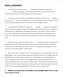 sample rental agreement letter 14 simple rental agreement templates free sample example