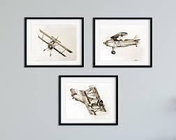 Airplane Drawing Airplane Drawings Etsy