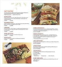 Catering Menu Templates Free 29 Catering Menu Templates Free Sample Example Format Download