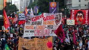 protesters demand Brazil President ...