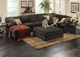 amazing chocolate microfiber sectional sofa intended for sectional sofas with ottoman