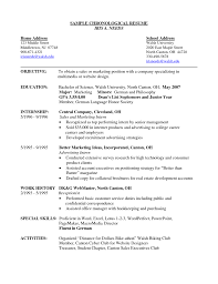 Non Chronological Resume Example 24 Example Of A Good Chronological Resume Templates How To Write 14