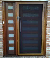 SecureView Hinged Security Screen Door Stainless Steel Mesh Front ...