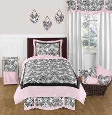 Sweet Jojo Designs Pink And Black Damask Sophia Childrens Teens