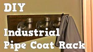 Diy Industrial Coat Rack Awesome DIY Industrial Pipe Coat Rack Slightly Crooked Workshop