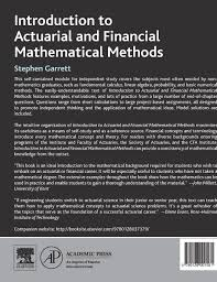 Introduction To Actuarial And Financial Mathematical Methods Amazon