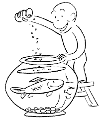 easy curious george coloring pages