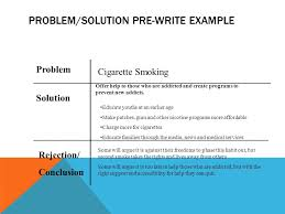 a guide to problem and solution essays ppt video online 5 problem solution pre write example