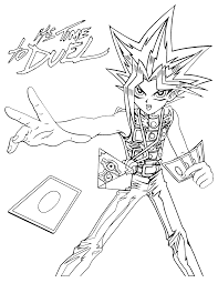 Small Picture Coloring Page Yu gi oh coloring pages 105