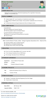 Awesome Collection Of Engineering Cv Format Engineering Resume