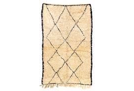 vintage beni ourain moroccan berber rug 4 9 x 8