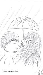 Easy Cute Love Drawings For Him Love Couple Drawing At Getdrawings