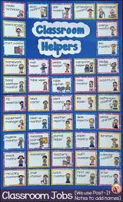 Classroom Jobs Chart For Classroom Helpers Teaching