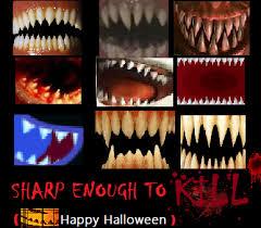 sharp teeth. scary sharp teeth meme by eric-erg