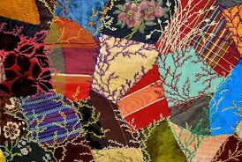 c. 1880 Antique Crazy Quilt with Two Crazy Shams in Lavish Jewel ... & c. 1880 Antique Crazy Quilt ... Adamdwight.com