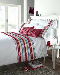 red white colour stylish striped ruffle modern duvet cover geo modern contemporary duvet bedding modern bedding duvet covers modern duvet cover sets canada