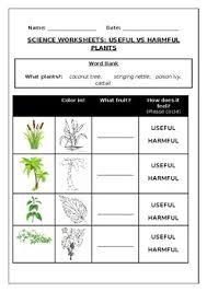 Home > science > plants. Science Worksheets Useful Vs Harmful Plants By Science Workshop