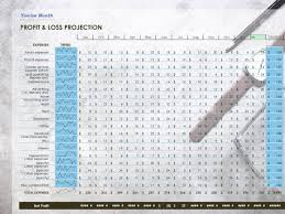 profit loss projection twelve month profit loss projection on workplace background