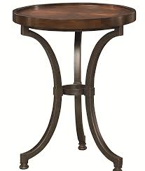 Round Chairside Table Round Chairside Table With Metal Base By Hammary Wolf And
