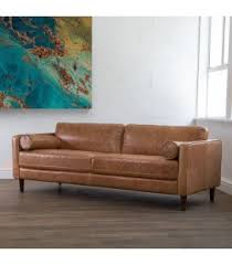 leather couches. Contemporary Leather Harrison Sofa  Tan  Throughout Leather Couches R