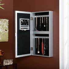 mirror jewelry armoire overthedoor jewelry armoire with