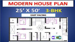 25 x50 east facing house plan with