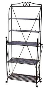 garden rack. Pangaea Home And Garden Folding Baker\u0027s Rack, Black Rack F