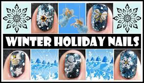 WINTER HOLIDAY NAILS | SNOWFLAKE CHRISTMAS STAMPING NAIL ART ...