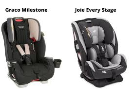 what s the difference between the graco milestone and the joie every stage car seats
