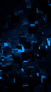Cube Dark Blue Abstract Pattern Android ...