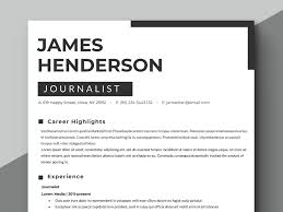 Journalist Resume Template Tv Resume Template News Resume Template Instant Download Clean Resume Professional Resume Template