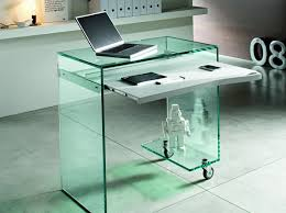 clear office desk. Delightful Illustration Of Glass L Shaped Office Desk Exquisite Photo With Astonishing Table Cheap Modern Tables Clear R
