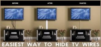 hide flat screen tv wires easy