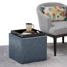simpli home rockwood denim blue storage ottomanaxcotdbu