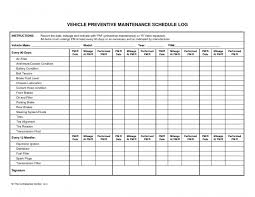 Printable E Maintenance Log Templates A C2 90 85 Template