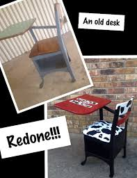a rusty old school desk can be sanded down taken apart painted and