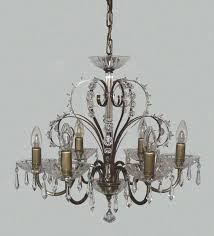 crystal chandelier with metal arms
