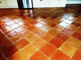 image of cleaning terracotta tile floors