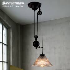 get ations pitt hudson loft vintage american country style restaurant industry mahjong lift telescopic glass chandelier lamp single