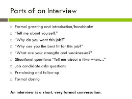 Interview Introduction Week 9 Job Interview Skills Ppt Video Online Download