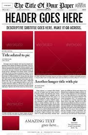 Spoof Newspaper Template Free Mock Newspaper Template Under Fontanacountryinn Com