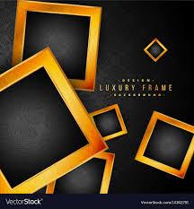 beautiful golden frames on black fl background vector image